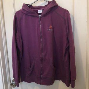 Columbia lightweight purple zip up hoodie